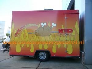 Enkelasser verkoopwagen met ALKO Mammut mover